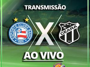 Acompanhe transmissão entre Bahia e Ceará