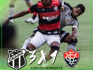 Copa do Nordeste: Vitória perde para o Ceará fora de casa
