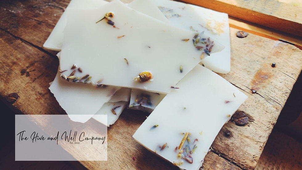 Lavender and Chamomile Wax Brittle