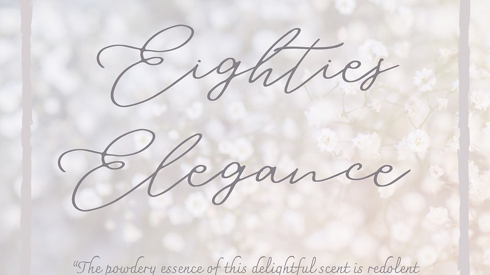 No. 3 | Elegant Eighties