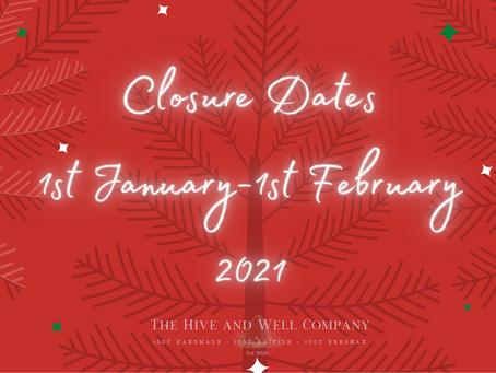 Restocking Closure Dates