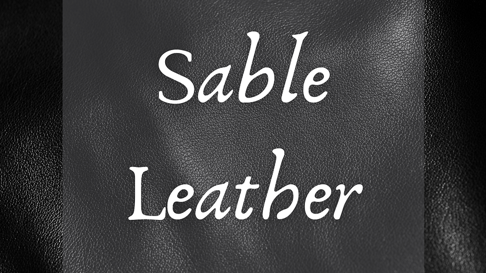 Sable Leather Scented Salt