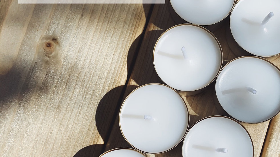 Wholesale/White Label Coconut Wax Tealights