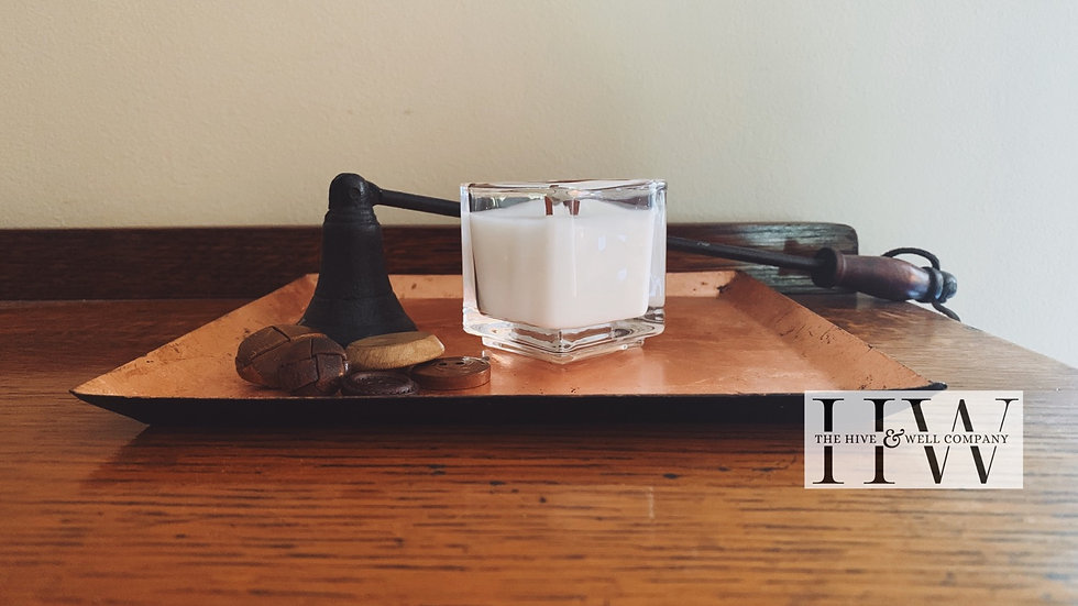Square Votive Vegan Candle