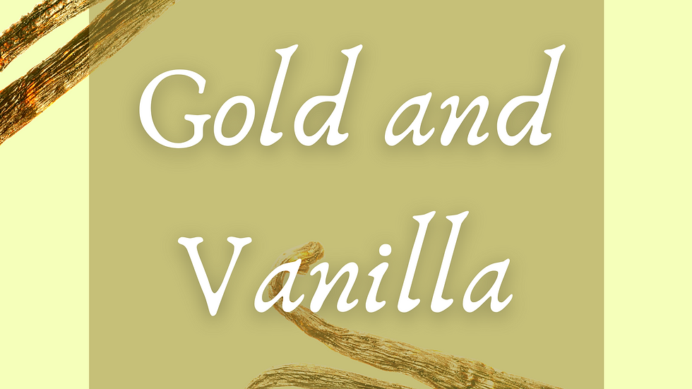 Gold and Vanilla Scented Salt