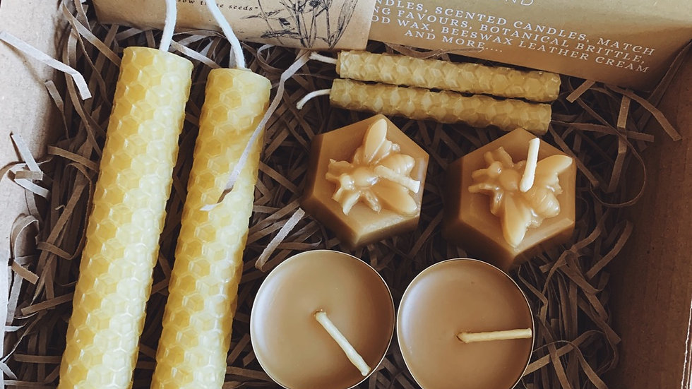 Small Beeswax Candle Selection Box
