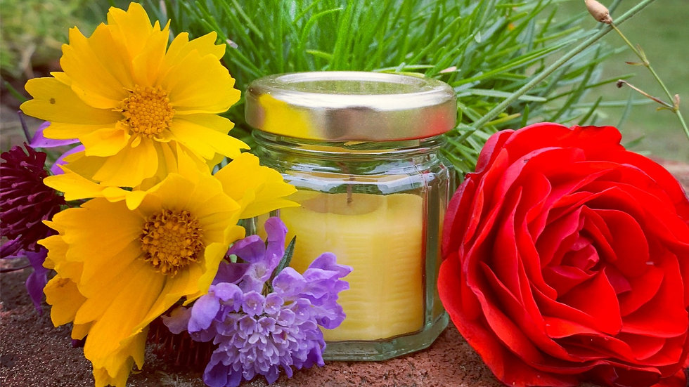Tiny Jar Beeswax Candles