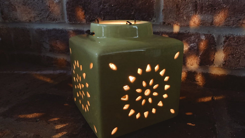 Large Sunshine Cube Tealight Holder