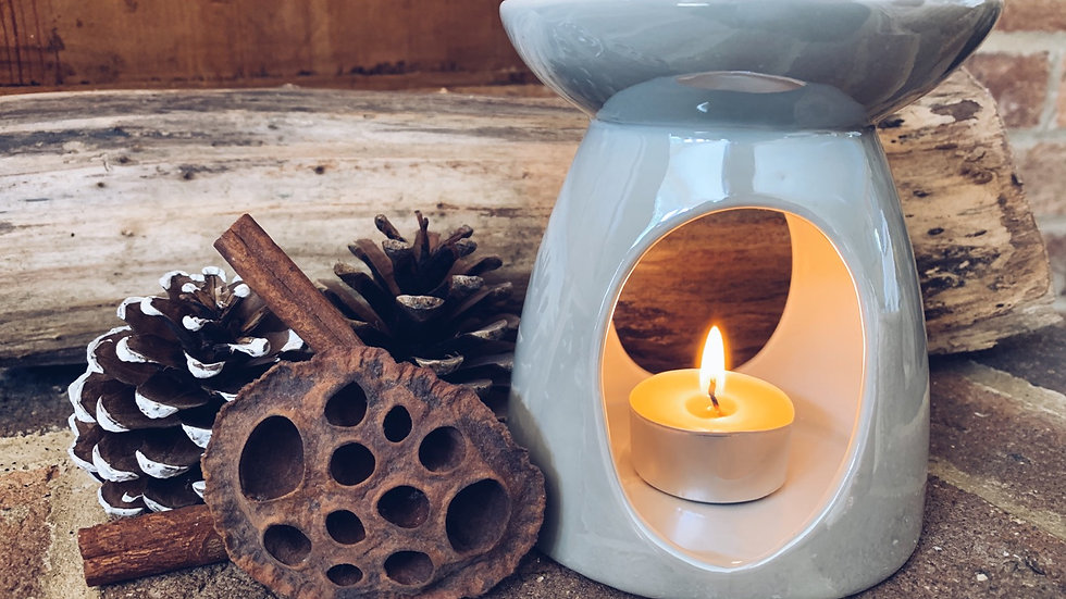 Pearlescent Taupe Wax Burner