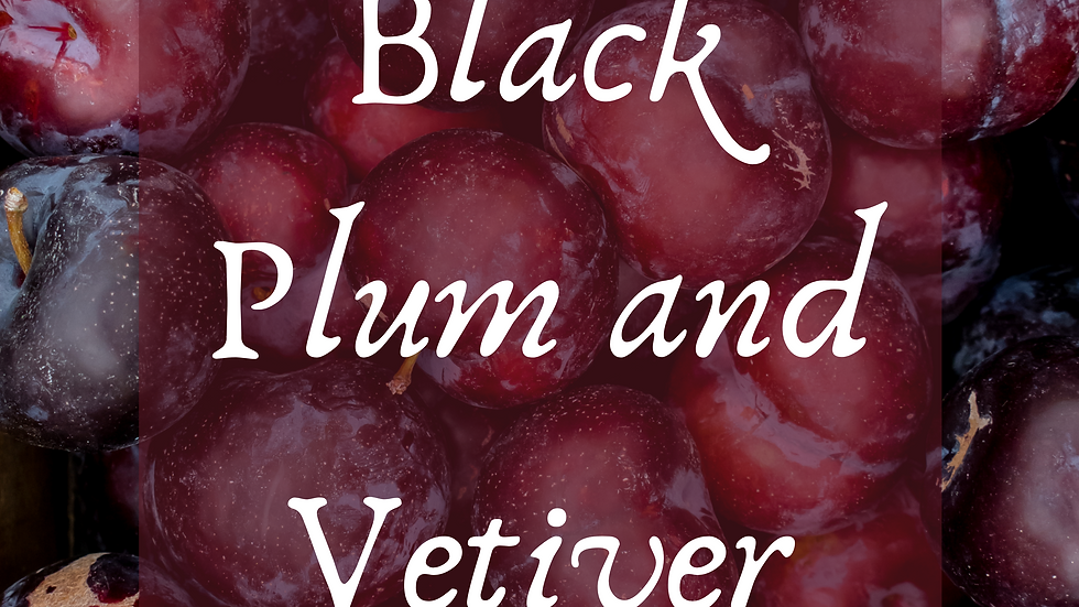 Black Plum and Vetiver Scented Salt