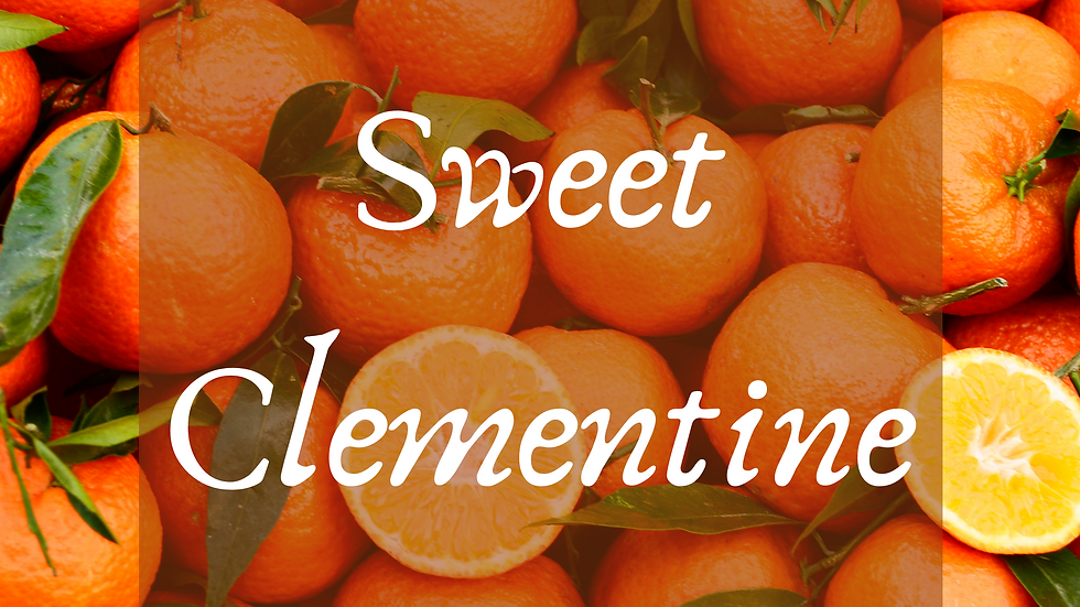 Sweet Clementine Scented Salt