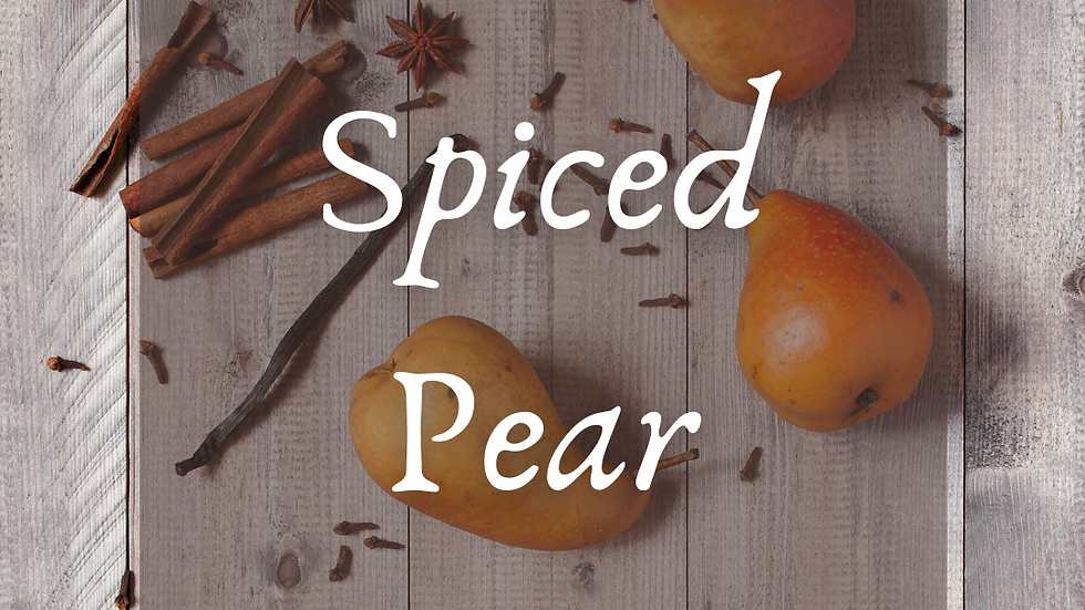 Spiced Pear Scented Salt