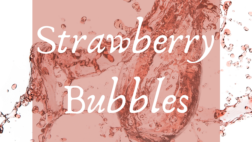 Strawberry Bubbles Scented Salt