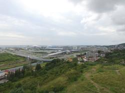 Вид с участка на Олимпийский парк