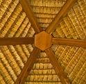 Art shaped Hexagon Bali hut