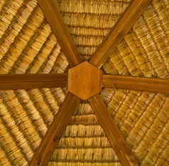 Art shaped Hexagon Bali hut