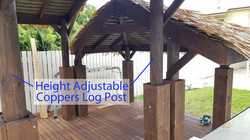 Height Adjustable Coppers Log Post