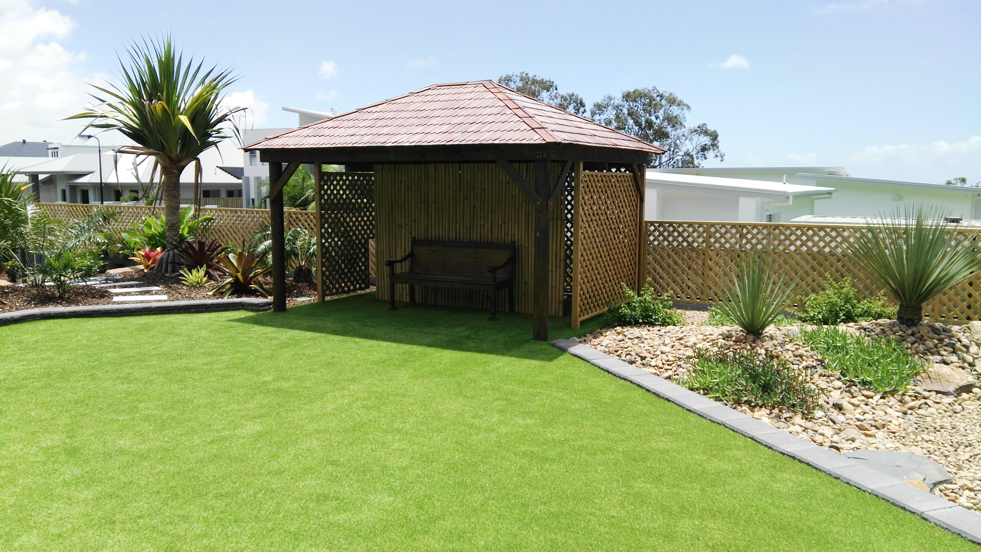 Shingles hut Brisbane Thatch Bali Huts And decks14710