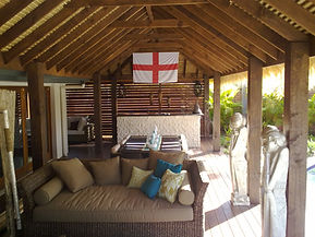 Exotic Ttropical island Lifestyle thatch Balinese Patio
