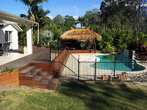 Bali Hut, Deck and Steps by Brisbane Thatch and Decks