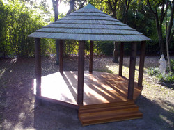 African Gazebo with Deck and Step