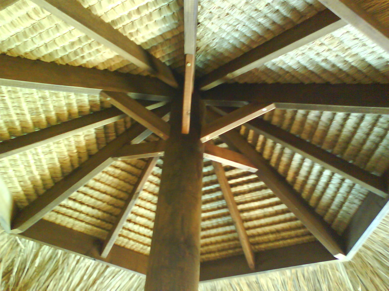 Brisbane Thatch Bali Umbrella Inside