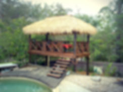 3x5m Bali Hut with Kwila Deck supply and installed by Brisbane Tahtch and Decks