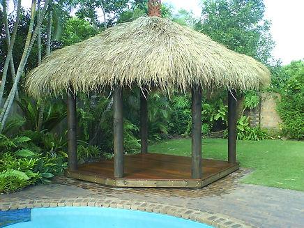 Art Shaped Thatched Bali Hut