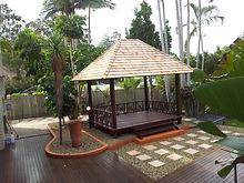 Canadian Ceder Shingle Hut Brisbnane  Bali Hus and Decks