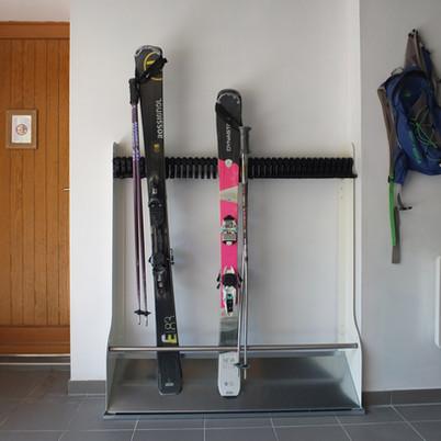 Ski rack garage