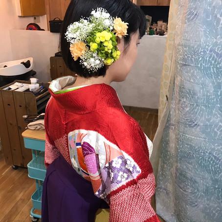 卒業式の袴とヘアセット♪