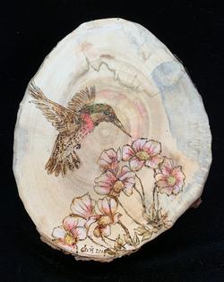 Hummingbird & Flowers