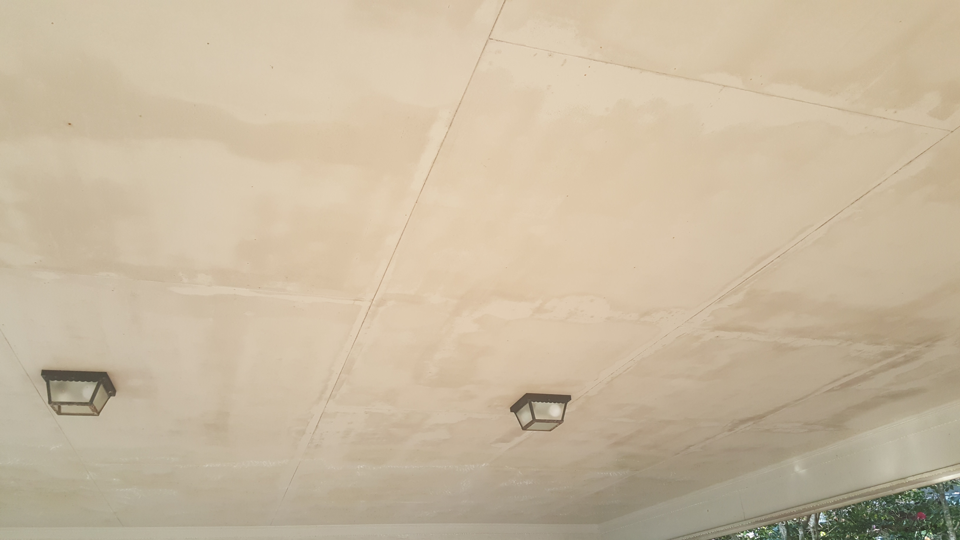 Before ceiling wash