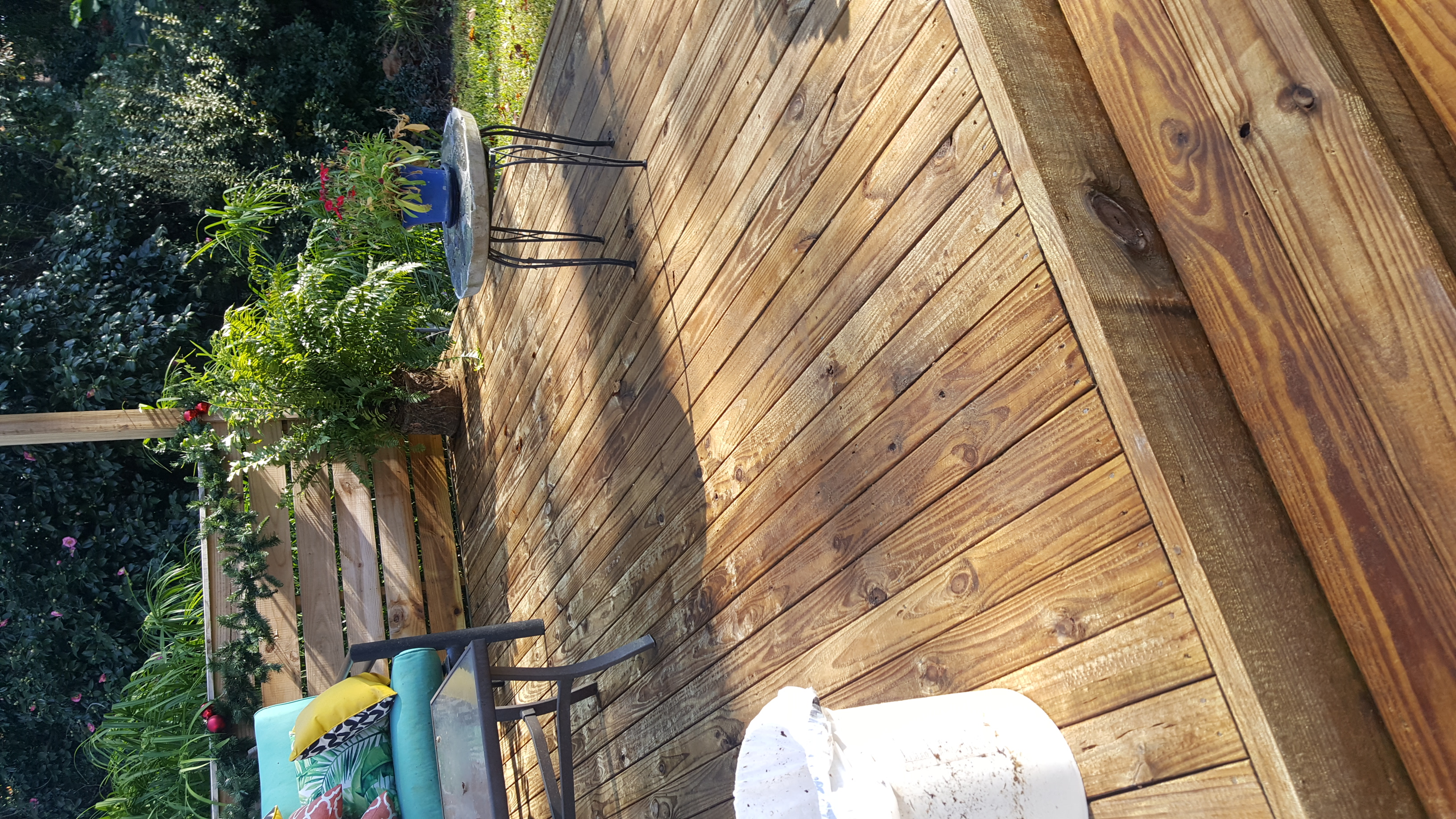 After decking was