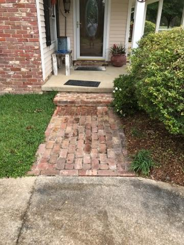 Brick walkway before
