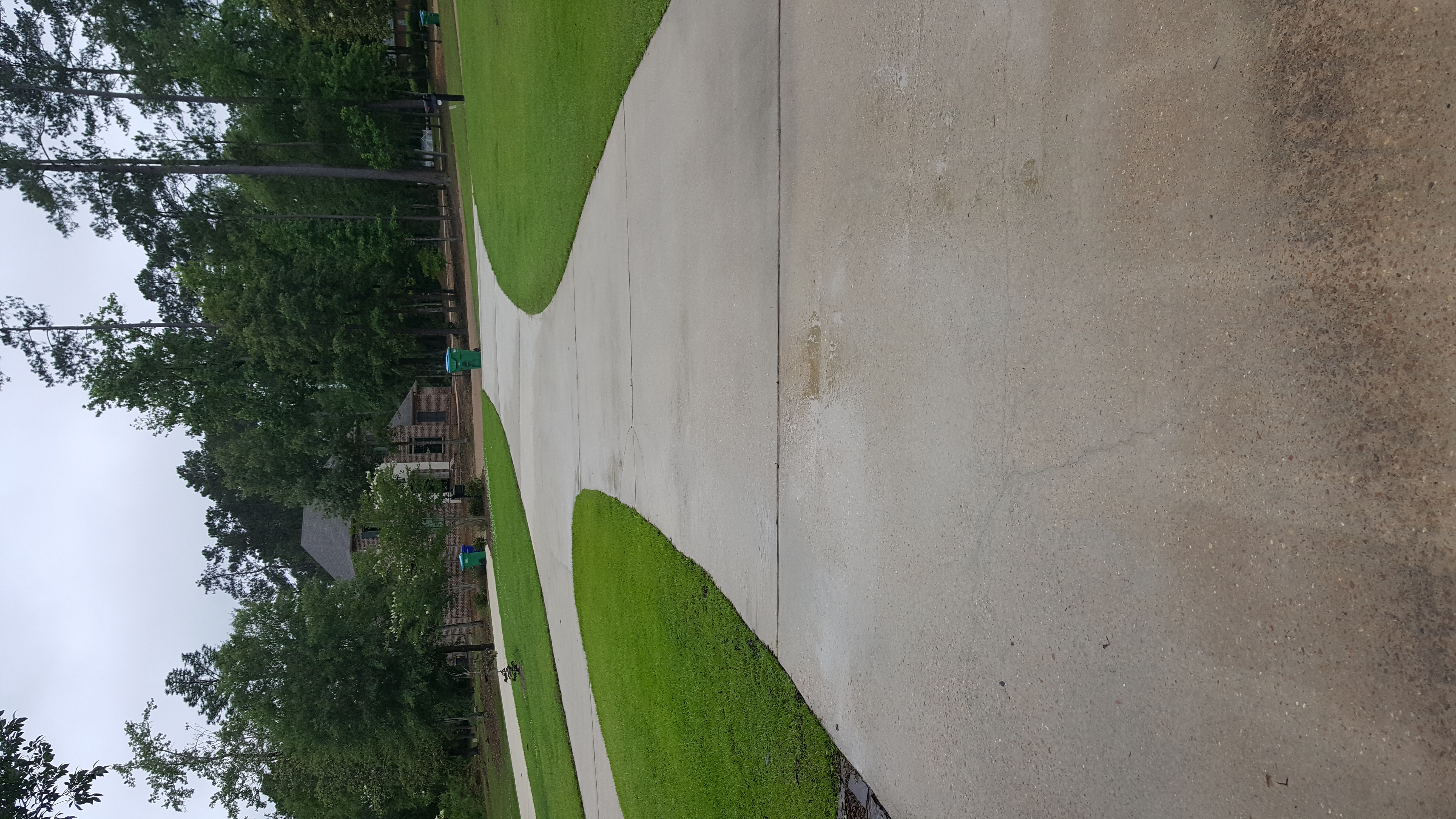 After Pic of same driveway