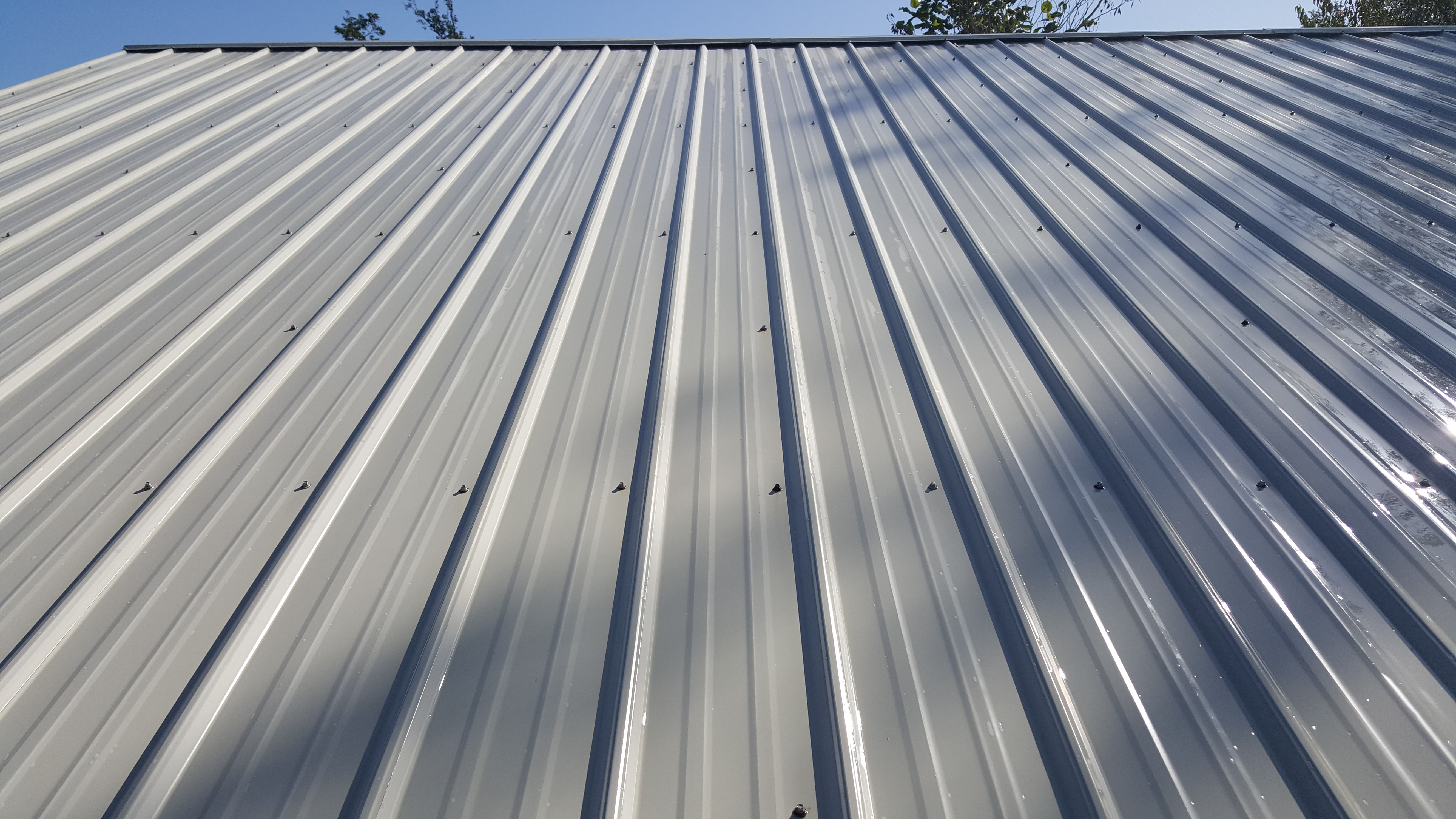 After metal roof wash