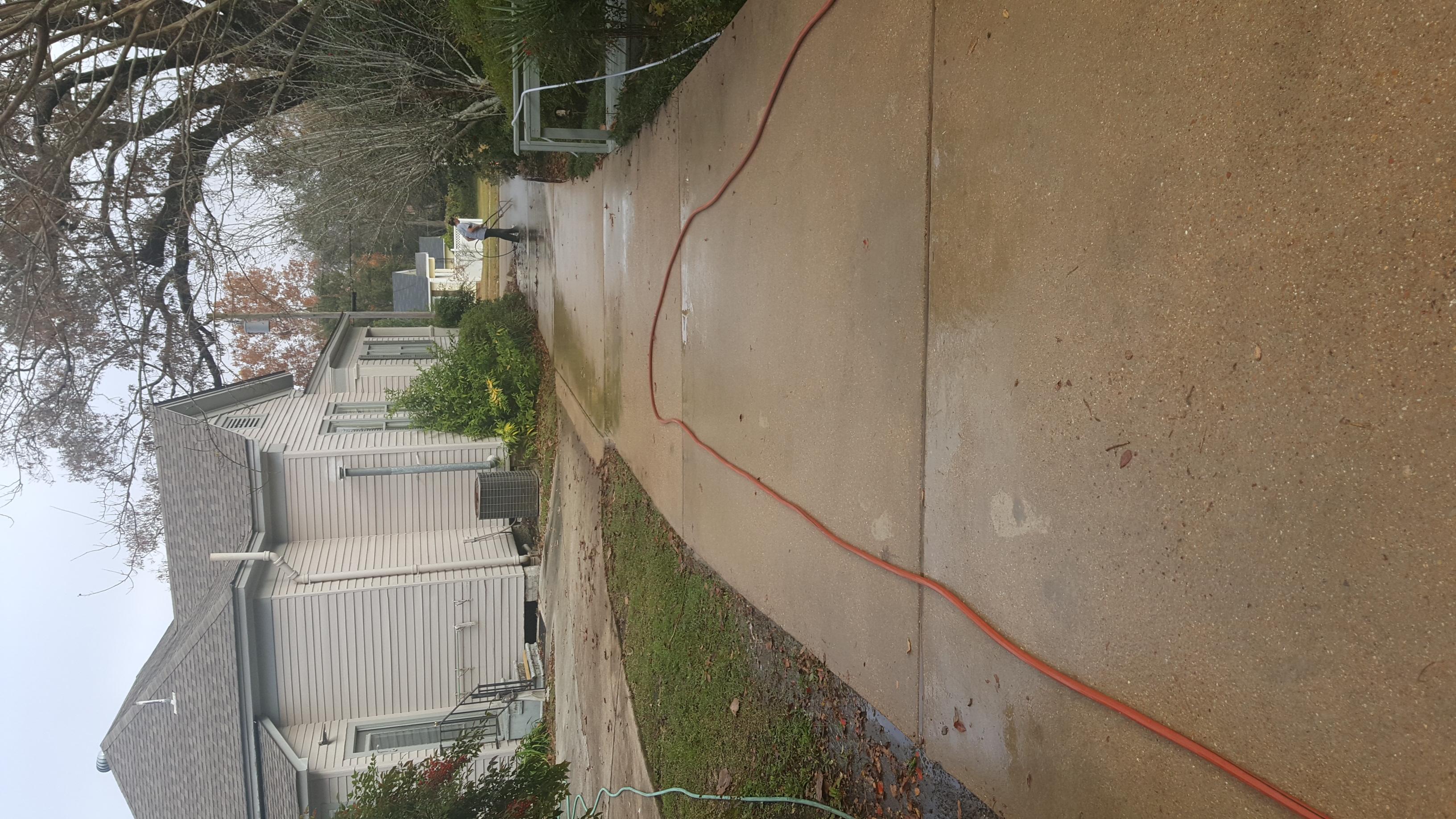 After concrete wash