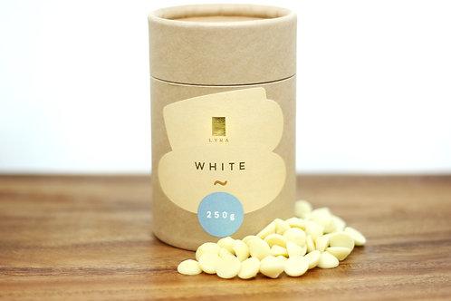 White - drinking chocholate