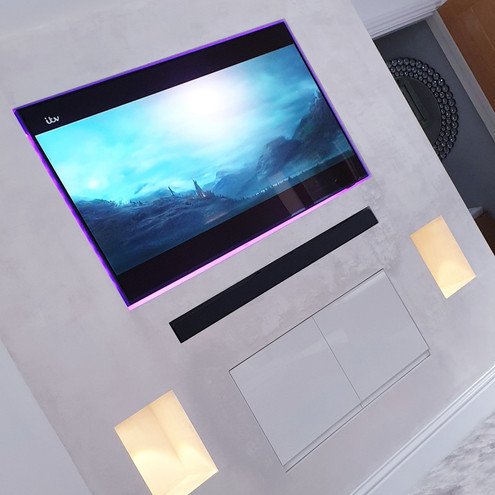 Create a Beautiful centre piece to any room a Elegant TV Wall with LED backlighting and alcove spotlights
