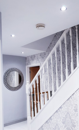 Pure White & Bright Hallway