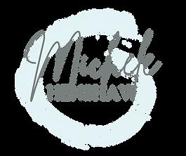 Michele Henshaw Logo _ Swirl _ White Out