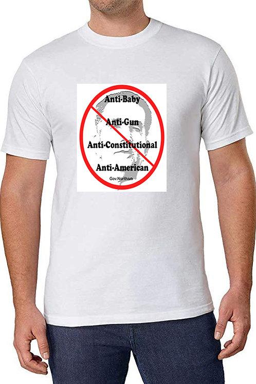 Anti Northam White Men's Crew Neck T-Shirt