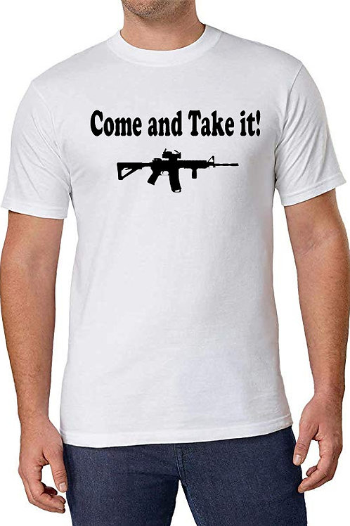 Come and Take it - Men's White 100% Cotton T-Shirt
