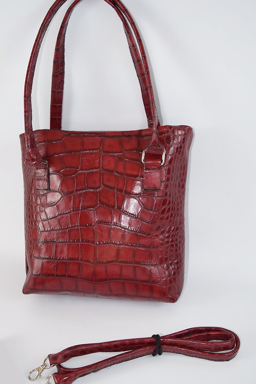 1414 Concealed Carry Embossed Crocodile Leather Purse