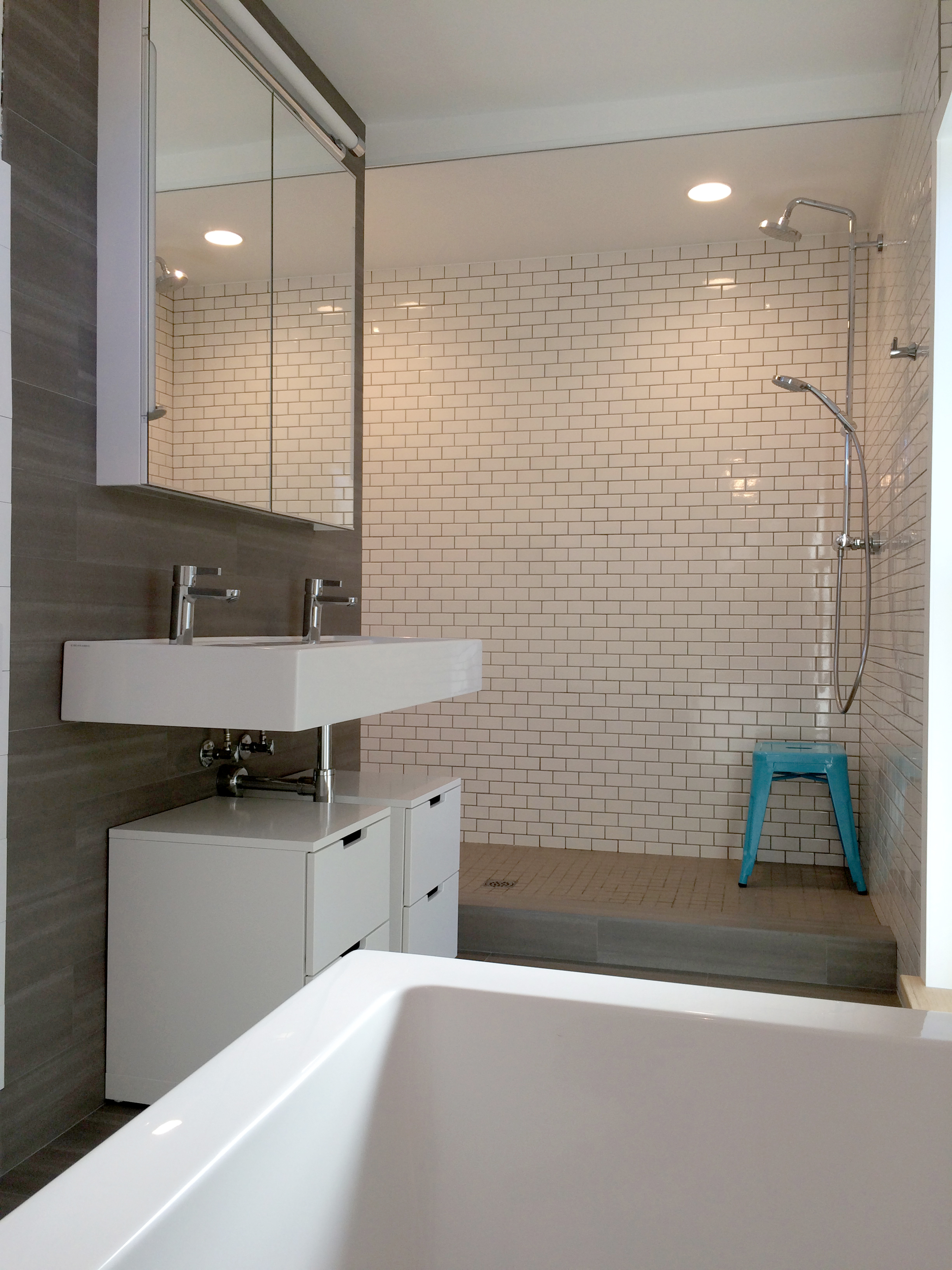 Modern vintage master bath