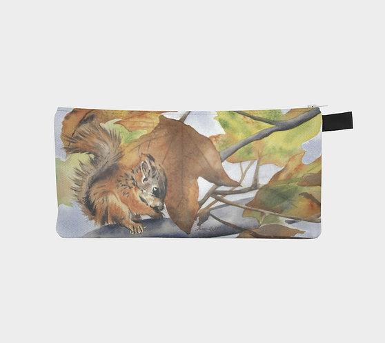 Squirrel in Autumn Pencil Case