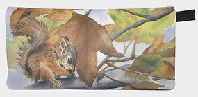 Squirrel in Autumn purse