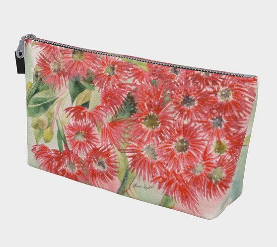 Red Gum Blossum Make Up Bag
