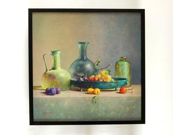 Romeins glas en pruimen - Hans Habraken (1946-)